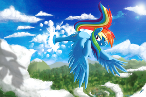 Rainbow Dash Moment by alskylark