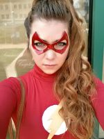 Lady Flash Selfie by SamanthaLynnCosplay