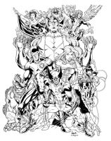 Todd Nauck's X-Men Inked by axerabbit