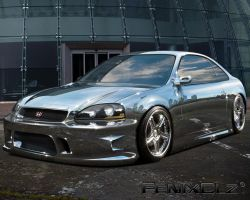 Chrome Civic by FenixClz013