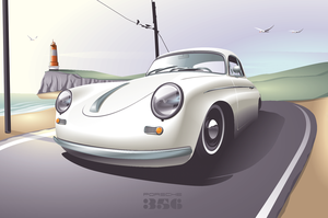 UPDATE II Porsche 356 Vector by depot-hdm