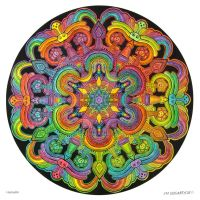 Mandala drawing 31 - Collaboration by Mandala-Jim