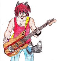 Wolf Guitarist by Darkpaw117