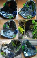 Large Grotto with Stepping Stones 12th Scale by Forestina-Fotos