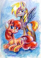 Carrot Top and Derpy by Maytee