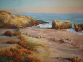 Before Sunset at Leo Carrillo Beach by kcthreads