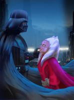 Darth Vader and Ahsoka Tano by MIKE00009