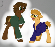 MLP Winchester bros by jazzprowl2