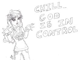 Chill God is in control LA by Meeowy