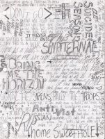 Bring Me The Horizon Word Art by a7xforever88