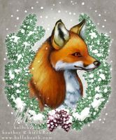 Snowy Fox by helloheath
