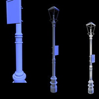 Lamp Post Model Renders 2 by Rubber-Rainbows