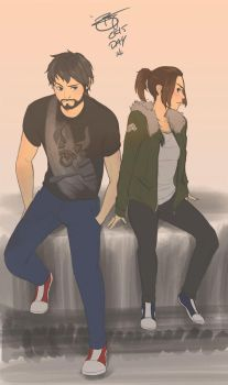 Arya and Gendry by B-E-F-F
