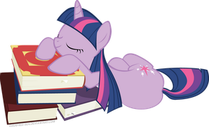 These are my books, and I'm going to sleep on them by FiddleArts