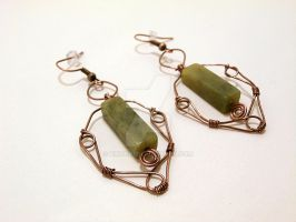 Wire Wrapped Earrings by Kindori