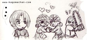 RE Funnies 6: Leon luv by I-heart-Link