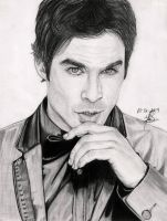 Ian Somerhalder's Portrait by Andreina96