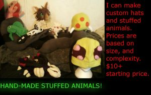 Custom Plushies For Sale!! by CoolTreeko