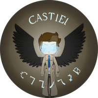 Castiel Button by Kagome10912