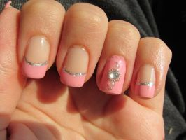Ballet Inspired Nail Art by QueenAliceOfAwesome