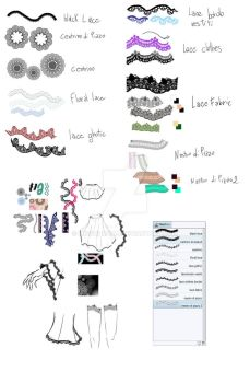 10 lace brushes for Manga Studio 5/CLIP STUDIO ! by MissChroma