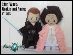 Star Wars: Anakin and Padme Dolls by StitchedAlchemy