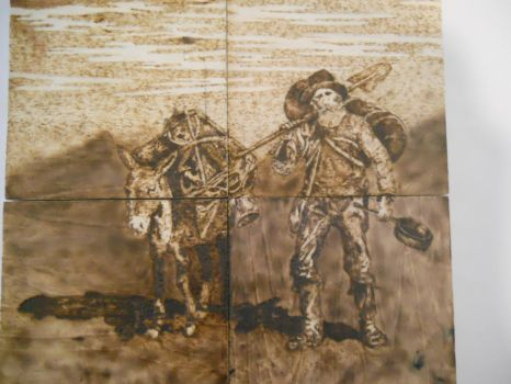 A Prospector and his Pack Mule by mschuck