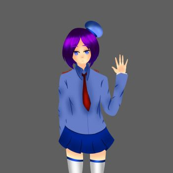 Unknown Blue Uniformed girl by CHINA168