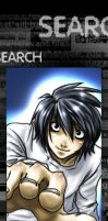 Deathnote:L Bookmark by omittchi