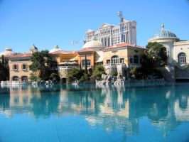 Caesars Palace and Bellagio by uttim