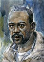 Morgan The The Walking Dead  Sketch Card by Stungeon