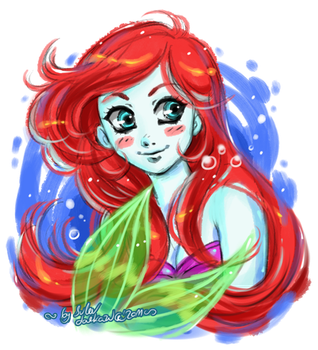 Sketchy Ariel by daekazu