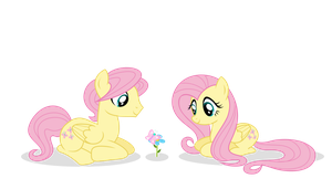 Fluttershy and Butterscotch by xXPudding-CakeXx