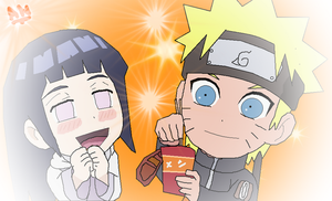 Naruhina with Ramen (SD) by taladromarplatense