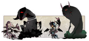 [CLOSED] ADOPT AUCTION 65 - Shadowmonster by Piffi-adoptables