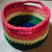 Rainbow basket by crochetamommy