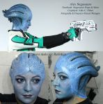 Liara Mass Effect headpiece by stegosauro