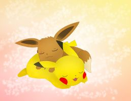 Pikachu And Eevee by Emesbury1397