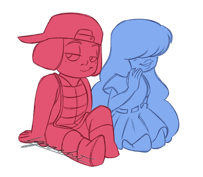 Ruby and Sapphire by Nara-chann