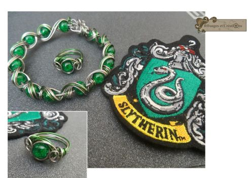 Slytherin jewel by Rouages-et-Creations