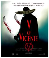 V of Vicente Movie Poster by Giosuke
