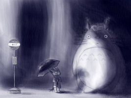 fauna's son and totoro by Allaze-eroler
