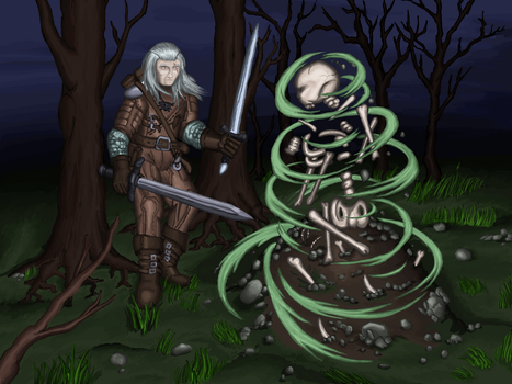 Necromancy in the forest by Cymoth