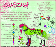Chaizah - Reference Sheet by Kiulani