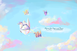 Flying for Hope and Peace by annneonet