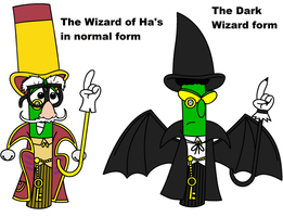 VT Archibald as the Wizard in normal and dark form by Magic-Kristina-KW