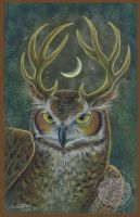 The Owl Stag by ssantara