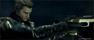 Wesker  shoots 3 by pavel-bulgakov