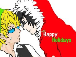 Happy holidays from Shizuo and Izaya by LC301820