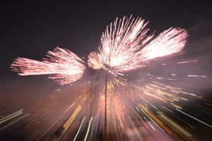 Fireworks with zooming effect 2 by A1Z2E3R